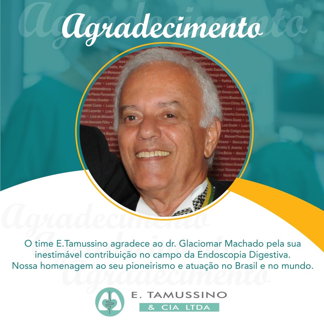 Agradecimento ao dr. Glaciomar Machado