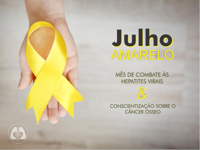 Julho Amarelo - mês de conscientização sobre as hepatites virais e câncer ósseo